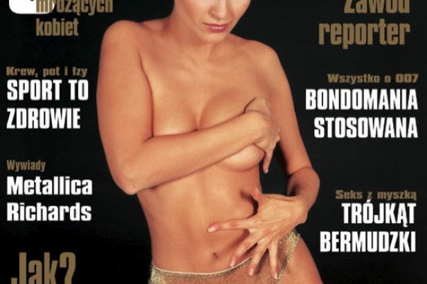 Joanna Horodyńska w CKM. Okładka CKM -  styczeń 2000