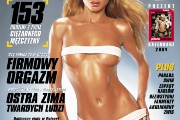 Izabella Łukomska w CKM. Okładka CKM - styczeń 2004.