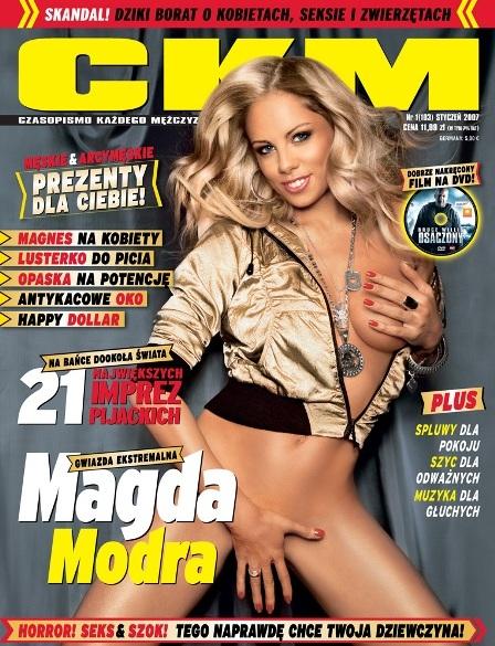 Magda Modra na okładce CKM - styczeń 2007