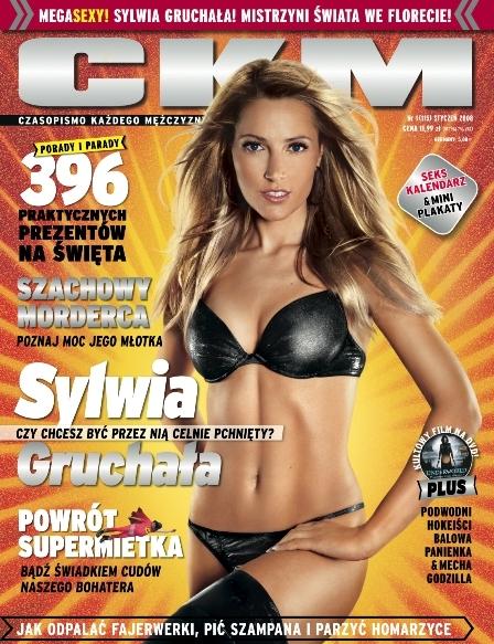 Sylwia Gruchała na okładce CKM - styczeń 2008