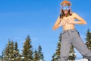 Snowboard, cycki, cipki