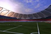 Zawalony dach na stadionie