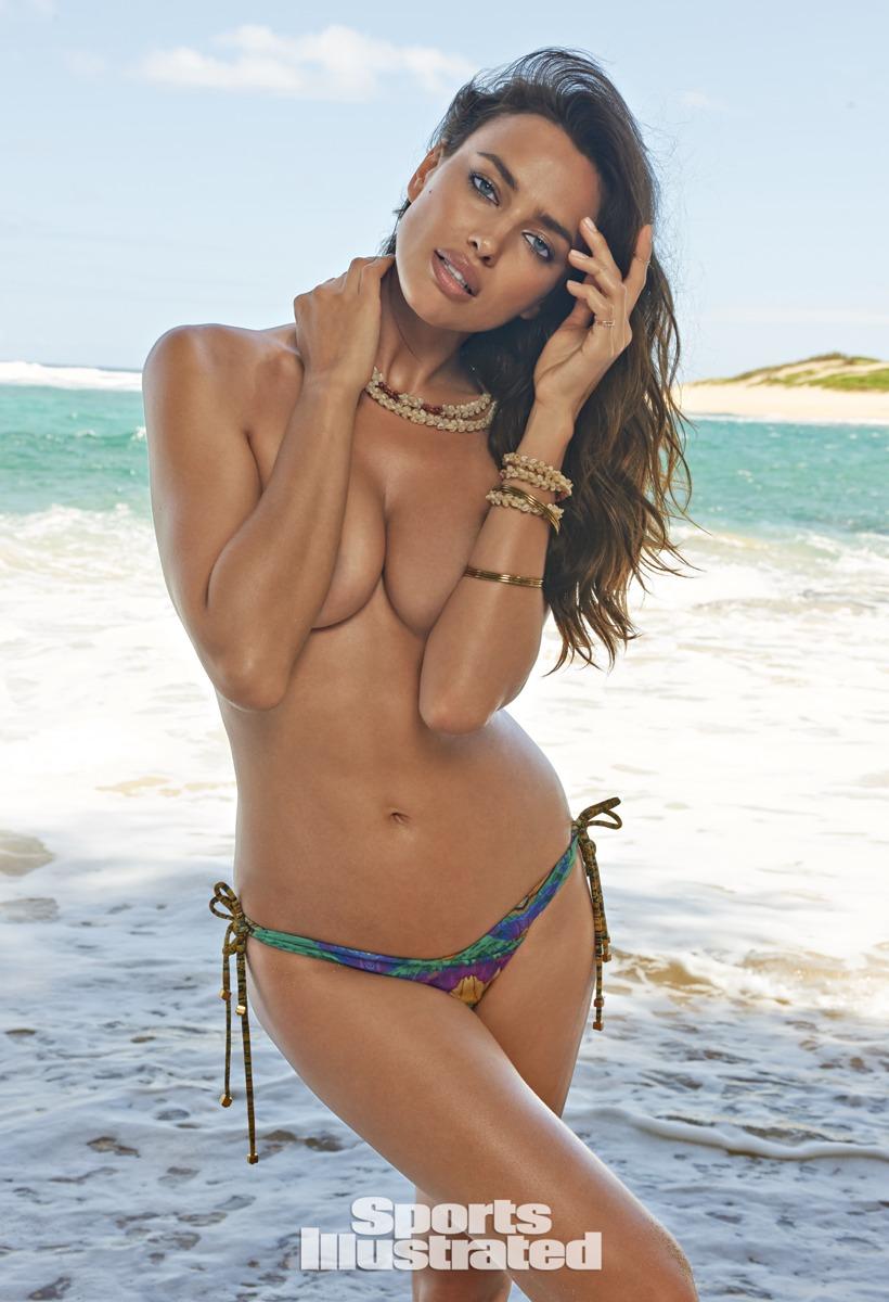 Irina Shayk topless w SI 2015