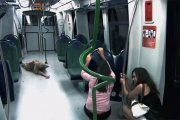 Zombie Prank w metrze