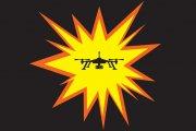 Dron w ogniu