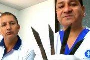 Uzależniony od jedzenia noży