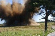 Detonacja półtonowej bomby