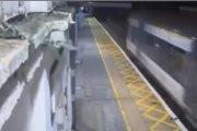 Pijany facet przeżył potrącenie przez pociąg