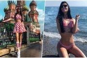 Ivana Knoll – gorąca kibicka Chorwacji. Spójrzcie tylko na te nogi!