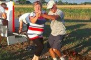 Argentyńczyk rozbił szybowiec na polu. Takiej reakcji na pewno się nie spodziewał
