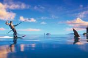 Pływaj na nartach wodnych z rekinami. Ta gra uzależnia jak kokaina